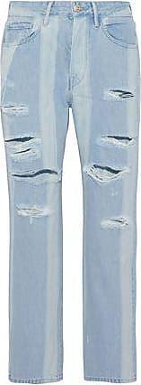 Femme Eclats Un Terrain Plus Élevé Boyfriend Jeans Détresse Lumière Taille Denim 25 3x1 cgK60