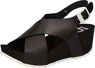 Damen Schuhe mit Riemchen, Schwarz - Schwarz - Größe: 40 5 PRO JECT