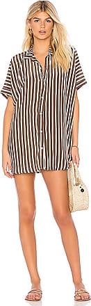 Mombasa Shirt Dress in Brown. - size S (also in XS) Acacia Swimwear rm6aKBu
