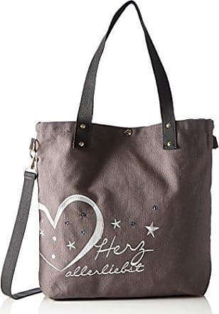 Abenteurerin Kulturbeutel Vegan, Womens Bag Organiser, Grey (Silbergrau), 6.5x18x27.5 cm (B x H T) Adelheid
