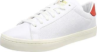 Adidas Courtvantage, Chaussures Pour Hommes, Blanc (chaussures Blanc / Chaussures Craie Blanche / Rose 0) 47 1/3 Eu
