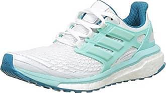 adidas Energy Boost, Chaussures de Running Compétition Femme, Blanc (Footwear blanc/Energy Aqua/Mystery Petrol), 42 EU