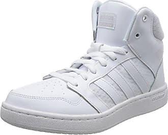 Adidas Forum Mid Raffiné, Chaussures De Sport Pour Hommes, Blanc (ftwbla / Ftwbla / Plamet 000), 41 1/3 Ue