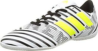 adidas Nemeziz 17.4 FxG, Chaussures de Football Entrainement Homme, Blanc (Footwear White/Solar Yellow/Core Black), 46 EU