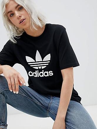 Adidas Originals adicolor trefoil oversized t-shirt in black - Schwarz adidas Originals