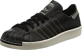 adidas Superstar 80s Decon, Chaussures de Gymnastique Mixte Adulte, Noir (Core Black/Core Black/Vintage White), 41 1/3 EU