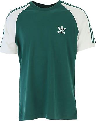 Camiseta de Hombre Baratos en Rebajas, Esmeralda, Algodon, 2017, XS adidas