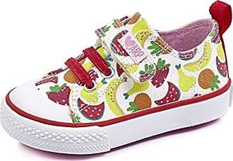 Agatha Ruiz de la Prada 182921, Zapatillas para Niñas, Varios Colores (Blanco/Frutas/Lona/Estampado), 30 EU