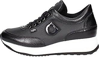 1304-1 Niedrige Sneakers Damen Schwarz 39 Agile by rucoline YKBZ8r