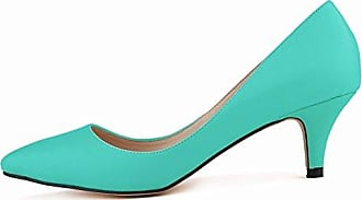 SHOWHOW Damen Eleganat Geschlossen Gradient Low Top High Heels Pumps Blau 36 EU dQdgm