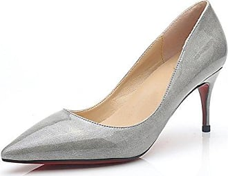 SHOWHOW Damen Cut Out Römersandale High Heels Schnürung Pumps Beige 37 EU Xgvl3R
