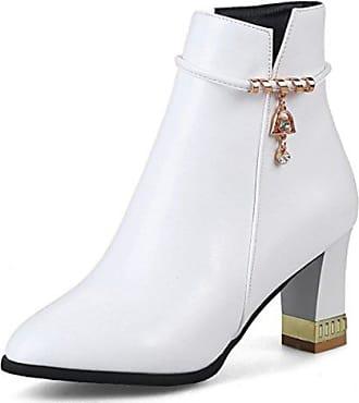 SHOWHOW Damen Plateau Gefüttert High Heels Kurzschaft Stiefel Mit Absatz Pink 42 EU qc6Nqmx6