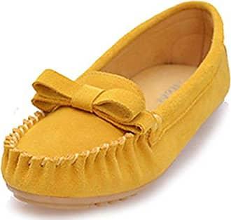 Damen Ballett, Gelb - Smooth Leather-Yellow - Größe: 36 Miyoopark