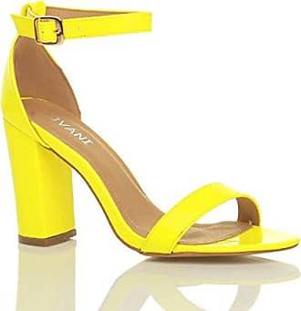 Damen Hochblockabsatz Peep Toe Plateau-Schuhe Knöchelriemen-Sandalen Größe 6 39 Ajvani Pj5nGkj