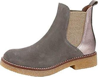Alba Moda Chelsea-Boot in modischem Leder-Mix, grau, Normal, taupe/altsilber