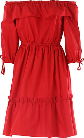 Dress for Women, Evening Cocktail Party On Sale in Outlet, Red, Cotton, 2017, 6 Alberta Ferretti
