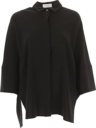 Shirt for Women On Sale, Black, Silk, 2017, 28 Alberto Biani