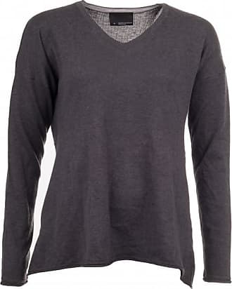 14 Gauge Cotton Silk V Neck Pullover für Damen | schwarz Alchemy equipment