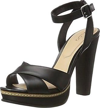 ALDO WRIGHTA, Sandales Plateau Femme - Noir (Black Leather/97), 40 EU