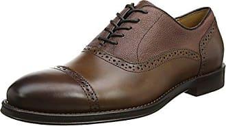 Ben Sherman Luck, Zapatos de Cordones Brogue para Hombre, Negro (Black Suede 018), 44 EU