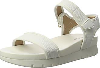 141002, Sandales Bout Ouvert Femme - Blanc - Blanc, Taille 38P1 Footwear