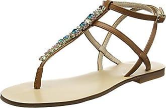 Jerilassi, Zapatos con Tacon y Correa de Tobillo para Mujer, Marrón (Tan Amendoea), 40 EU Aldo