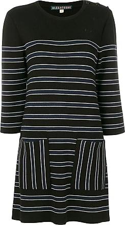 Alexa Chung Woman Striped Stretch Cotton-twill Mini Dress Navy Size 16 AlexaChung 5F8uuSxR1C