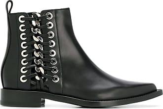 Alexander McQueen Cowboy Chain-Stitch Bootie ZagUyfiUk