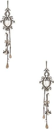 Alexander McQueen Fringe Earrings in Metallics RXpFYb
