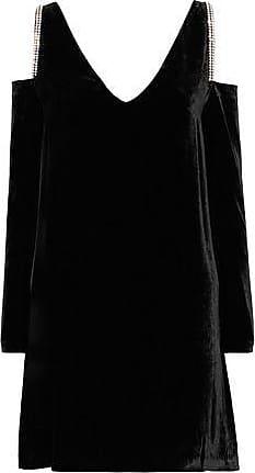 Mcq Alexander Mcqueen Woman Stitched Suede Mini Dress Black Size 38 Alexander McQueen 7i7Qpy
