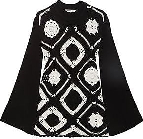 Clearance Find Great Natural And Freely Mcq Alexander Mcqueen Woman Crocheted Wool And Cotton-blend Mini Dress Black Size XS Alexander McQueen 9nGV1OnSYT