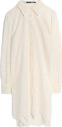 Mcq Alexander Mcqueen Woman Scalloped Chantilly Lace Shirt White Size 38 Alexander McQueen Discount Classic Sale Low Price Visit New Cheap Price Cheap Get Authentic qapq0NSvad