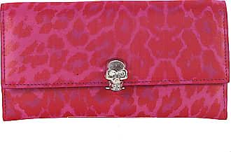Portemonnaie Wallet leather pink print skull shutter Alexander McQueen cDtPR