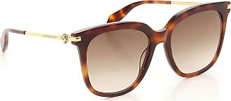Sunglasses On Sale, Havana, 2017, one size Alexander McQueen