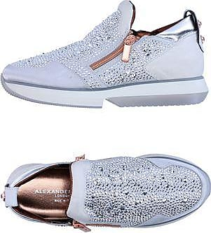 Sneakers for Women On Sale, Silver, Leather, 2017, 4.5 5.5 6.5 7.5 Alexander Smith