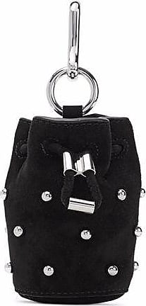 Alexander Wang Alexander Wang Woman Studded Leather And Suede Keychain Baby Pink Size GATlpEFYNo