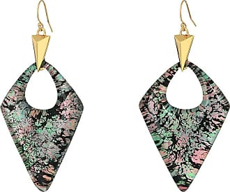 Alexis Bittar Double Pyramid Drop Earring Jungle green Ci3oNsQclE