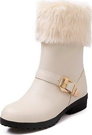 RAZAMAZA Damen Chunky Niedrige Sommerschuhe Stiefel White Size 34 Asian bpklNBH