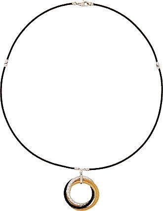 Alór Triangular Diamond Pendant Necklace, Silvertone