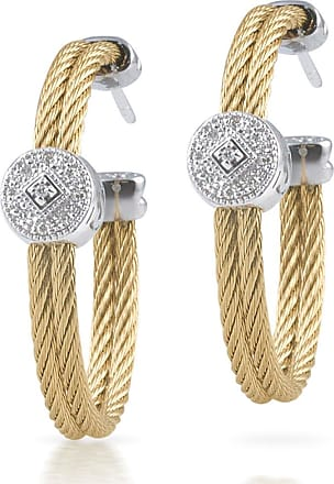Alór 18k Cable & Diamond Pavé Hoop Earrings cn7PcDn