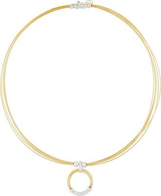 Alór Classique Pave Diamond Circle Drop Earrings, Yellow