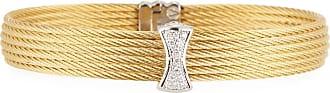 Alór Classique Multi-Row Bangle w/ White Diamond Pave, Golden