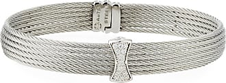 Alór Classique Multi-Row Bangle w/ White Diamond Pave, Silvertone