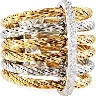 Alór Noir Multi-Row Micro-Cable Band Ring, Size 7