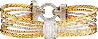 Alór Classique Multi-Strand Cable Bracelet w/ Diamond Pavé, Tricolor