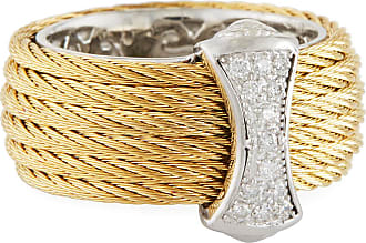 Alór Crisscross Diamond Cable Ring, Size 7
