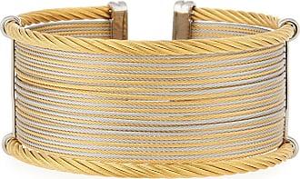 Alór Classique Wide Steel & 18k Cuff Bracelet teDU2x
