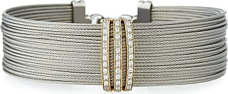 Alór Multi-Row Stacked Bangle w/ Diamond, Black