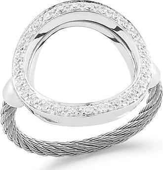 Alór Classique Two-Tone Diamond Ring, Size 6.5