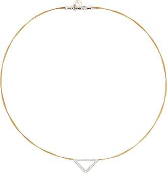 Alór Triangular Diamond Pendant Necklace, Black